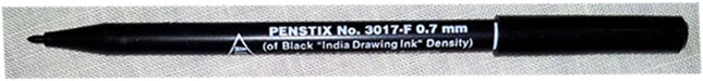 a Penstix drawing pen with permanent India ink